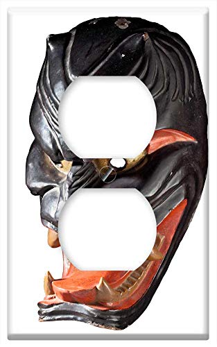Switch Plate Outlet Cover - Demon Mask Mask Japanese Demon Japan Antique