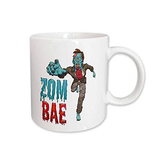 3dRose Carsten Reisinger - Illustrations - Zombae Man Funny Halloween Zombie - 15oz Mug (mug_294851_2) -