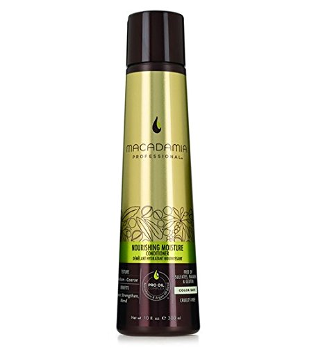 Macadamia Professional Nourishing Moisture Conditioner - 10oz. - Medium to Coarse Hair Textures - Repairs & Strengthens - With Argan Oil - Sulfate, Gluten & Paraben Free, Safe for Color-Treated Hair