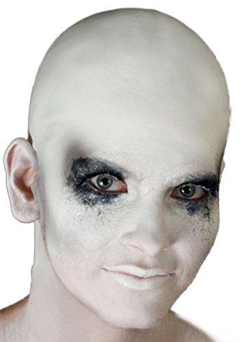 Woochie by Cinema Secrets Bald Cap - White, Multi, One Size - Halloween Bald Cap