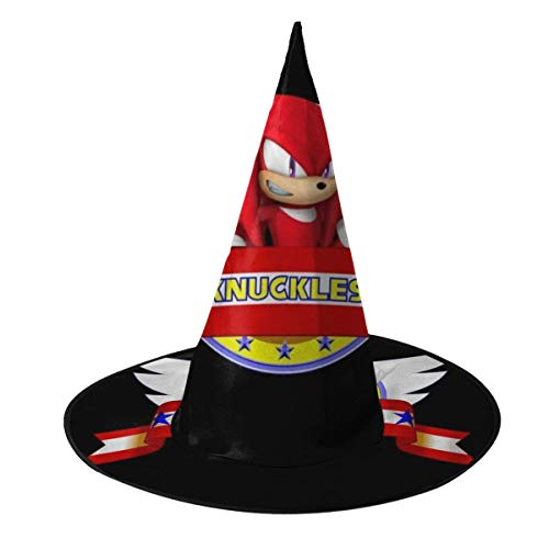 Sonic The Hedgehog Knuckles The Echidna Banner Witch Hat Halloween Unisex Costume For Holiday Halloween Christmas Carnivals Party