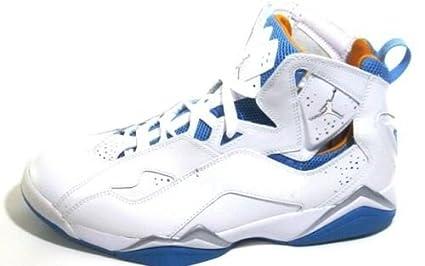 329d28fc745d Image Unavailable. Image not available for. Color  Nike Air Jordans True  Flight - White Taxi - University Blue