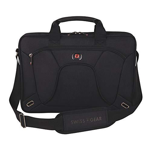 SwissGear(R) Application Laptop Slimcase with 16in. Laptop Pocket and Tablet/eReader Pocket, Black