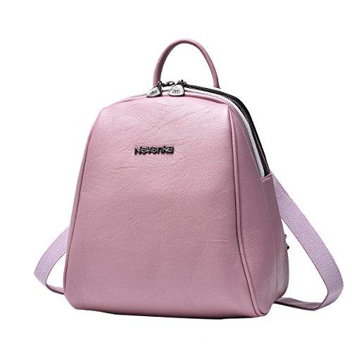 Student 685 Pink Nevenka Leather Backpack Women PU Bag Zipper Bags For Women Casual Backpacks 1qaqRS7WZw