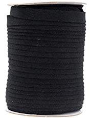 Mandala Crafts Double Fold Bias Tape for Sewing, Seaming, Binding, Hemming, Piping, Quilting, 1/2 Inch 55 Yards, Black
