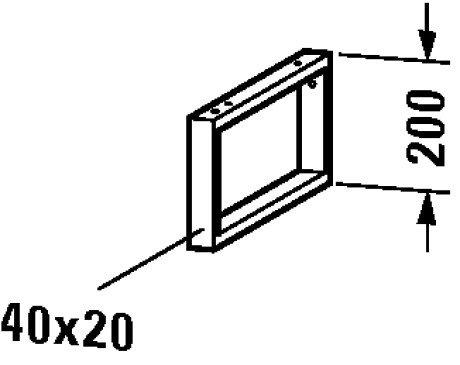 Duravit Console Support - Duravit DL990300000 Console support-towel rail Delos 200x40x480mm, chrome
