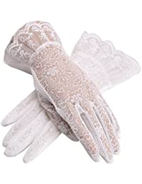 Vintage Spring and Summer Women's Lace Cotton Short Gloves