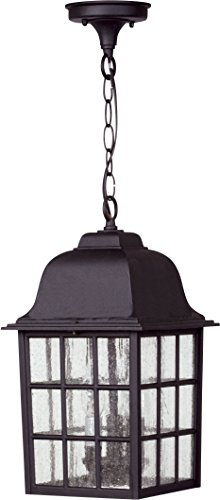 Black Hanging Porch Light - 4