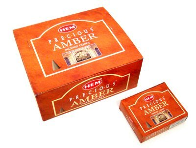 Precious Amber - Case of 12 Boxes, 10 Cones Each - HEM Incense From India