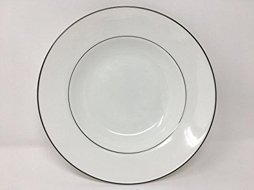 Platinum Rim Soup Plate - Lenox Continental Dining Platinum Bone China Pasta Bowl/Rim Soup