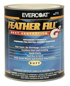 (Evercoat 715 Feather Fill G2 Black Polyester Primer Surfacer - 1 gallon)