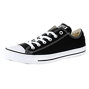 0da1085932aa Converse Unisex Chuck Taylor All Star Ox Low Top Black Sneakers - 9 D(M