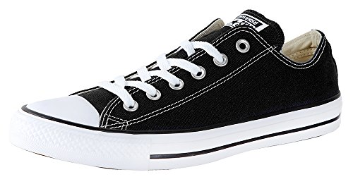 (Converse Unisex Chuck Taylor All Star Low Shield, Black, 12 Women/10 Men)
