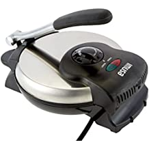 IMUSA USA GAU-80308 Electric Tortilla & Roti Maker 8-Inch, Stainless Steel/Silver