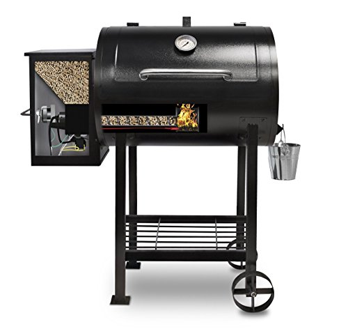 Pellet smoker with visible pellets
