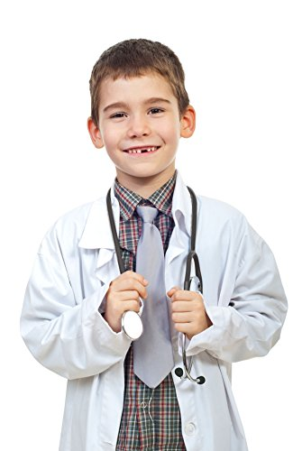 [M&M SCRUBS Childrens Lab Coat--Halloween Costumes--Soft Fabric XL White] (Lab's Costumes)