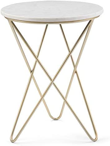 SIMPLIHOME Gabon Modern Industrial 18 inch Wide Metal Accent Side Table