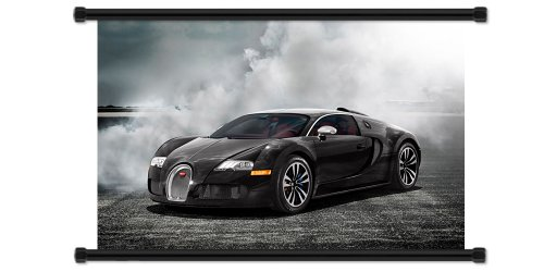 Bugatti Veyron Exotic Sports Car Fabric Wall Scroll Poster
