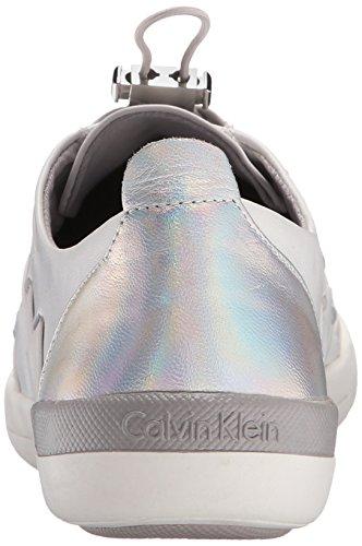 Calvin Klein Donna Tulle Scarpe Da Passeggio Platino Bianco / Lilla