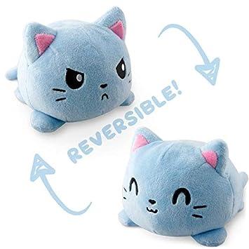Amazon Com Teeturtle Reversible Cat Mini Russian Blue Plush Toys