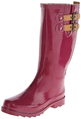 CHOOKA Women's Top Solid Rain Boot, Deep Mauve, 10 M US