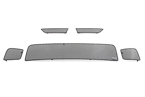 MX Series Black Upper 2pc & Lower 3pc Mesh Grill Grille Insert for Scion TC (Scion Tc Mesh Grill)