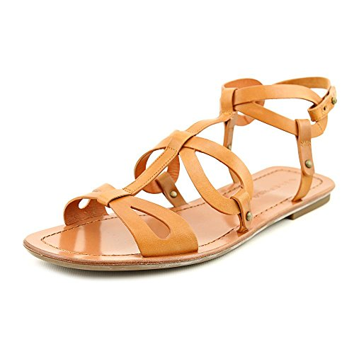 (Via Spiga Donnie Women Open Toe Leather Slingback Sandal, Tan, Size 8.5)