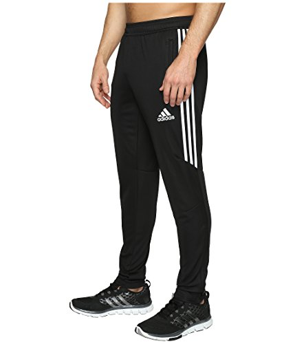 (adidas Men's Soccer Tiro 17 Pants, Medium, Black/White/White )