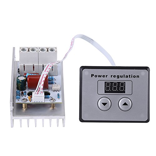 10000W SCR Digital Electronic Voltage Regulator Speed Controller Dimmer Thermostat AC 220V 80A,Power Converters Volt Stabilizer Power Supply Module with LCD Panel
