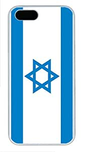 iPhone 5S Cases & Covers -Israel Flag Custom PC Hard Case Cover for iPhone 5/5S ¨C White