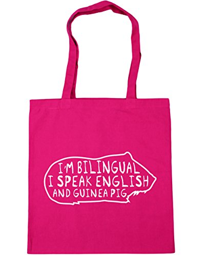 Shopping And Pig I'm Guinea 42cm Tote Gym 10 English litres Beach HippoWarehouse x38cm Bag Fuchsia Speak Bilingual I AXwHczfq