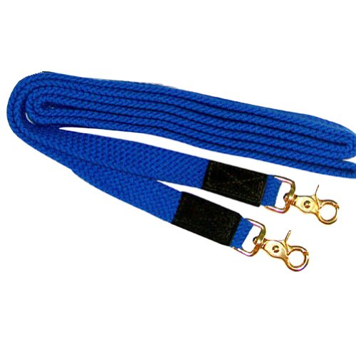 Intrepid International Flat Nylon Braided Reins, bluee