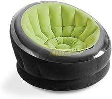 Intex Empire Silla inflable, 112 cm x 109 cm x 69 cm, verde