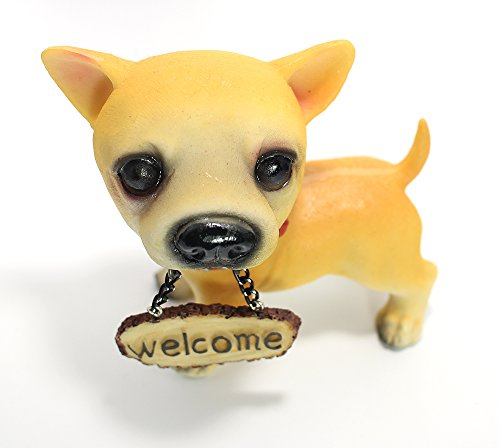 Womens Tomb Fighter Costumes (Chihuahua Dog Statue with welcome sign)