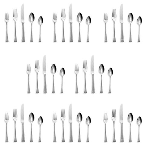 Lenox Federal Platinum Frosted Flatware/Silverware 40pc Set (Service for ()