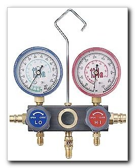 FJC Air Conditioning Products - R134a Aluminum Block Manifold Gauge (6752)