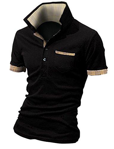 資源ピークマイクロプロセッサBUZZ WEAR [バズ ウェア] メンズ ポロシャツ poloシャツ 半袖 チェック スキッパー スポーツ ゴルフ ゴルフウェア 春 夏