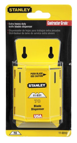 Stanley 11-931D 70 Pack Extra Heavy Duty Utility Blades with Dispenser (Heavy Blades Extra Duty)