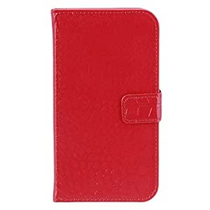 SUMCOM Bright Color Wallet Style PU Leather Case for Samsung Galaxy S3 i9300 (Red)