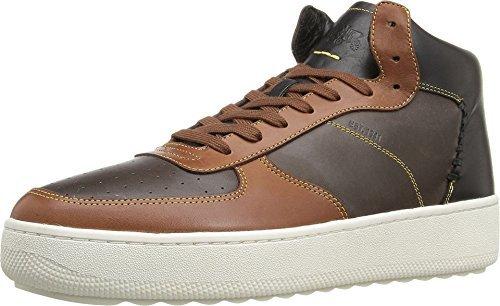 COACH Men's Patchwork C210 Mahogany/Dark Saddle/Black Sneaker 11 D (M) - Mens Coach Sneakers