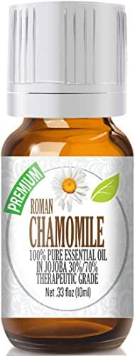 Roman Chamomile Essential Oil - 100% Pure in Jojoba (30%/70% Ratio), Best Therapeutic Grade - 10ml