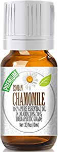 Chamomile Essential Oil, Roman 100% Pure in Jojoba (30%/70% Ratio), Best Therapeutic Grade - 10ml