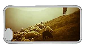 Hipster free iPhone 5C covers Sheep Flock PC Transparent for Apple iPhone 5C by supermalls