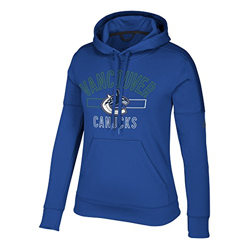 (adidas NHL Vancouver Canucks Womens Open Box Team Issued Pullover Hoodopen Box Team Issued Pullover Hood, Collegiate Royal, XX-Large)