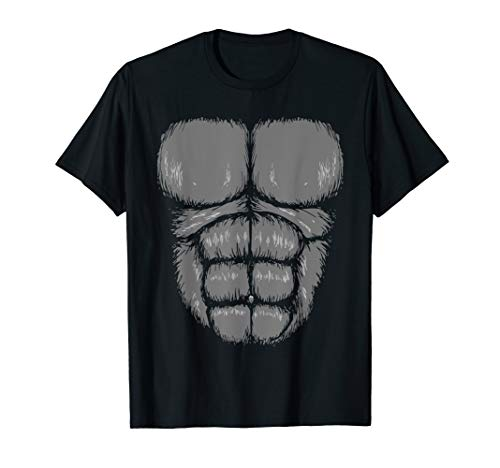Halloween Funny Gorilla Monkey Belly Chest Costume Shirt -