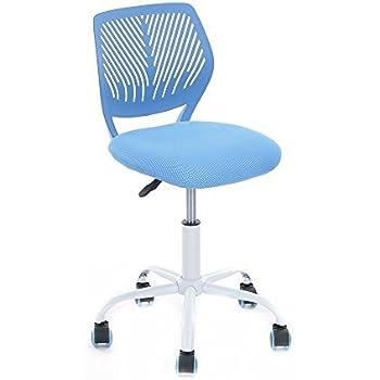 GreenForest Office Task Desk Chair Adjustable Mid Back Home Children Study Chair,Blue
