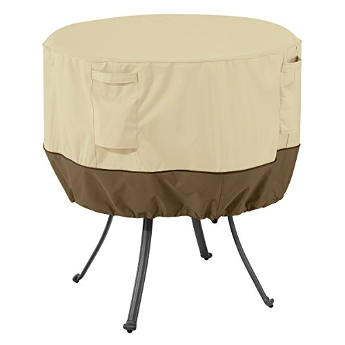 Classic Accessories Veranda Round Patio Table Cover – Durable and Water Resistant Patio Set Cover, Medium (55-568-011501-00)