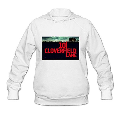MG Horror Film 10 Cloverfield Lane Poster Hooded Sweatshirt For Women White