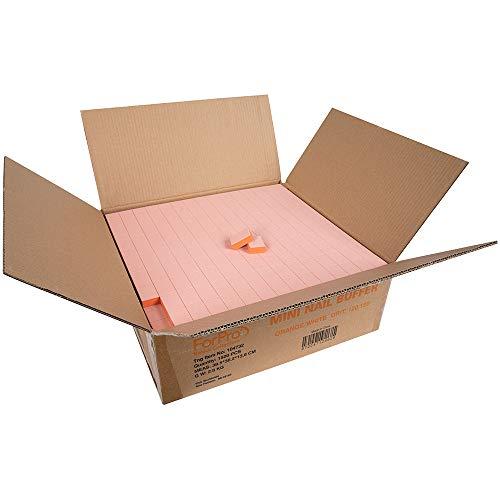 ForPro Basics Orange/White Mini Block Buffer, 120/120 Grit, Double-Sided Disposable Manicure and Pedicure Buffers, 1