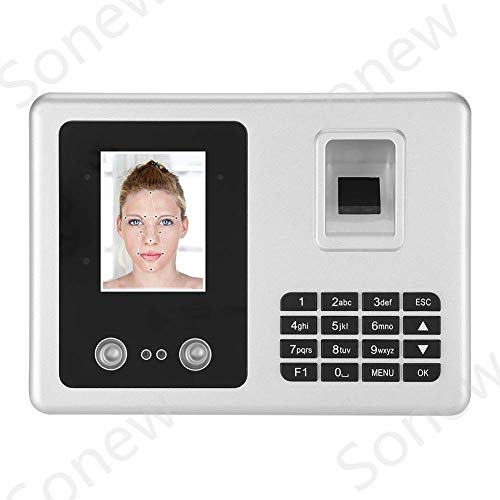 Attendance Machine, 2.8-inch TFT Face Recognition Fingerprint Attendance Machine Employee Checking-in Payroll Recorder for Office Use(US Plug)